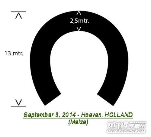 2014年9月3日荷兰马蹄状玉米田圈