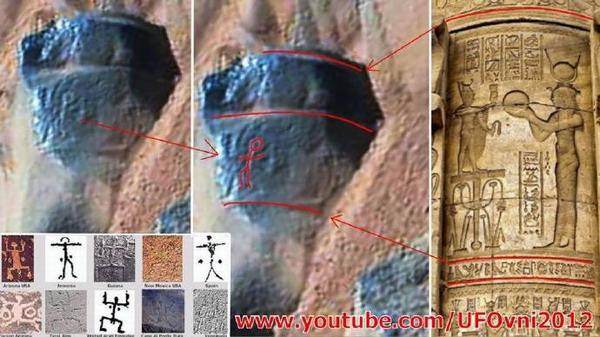 在火星上的岩石中发现人类的古代岩画?