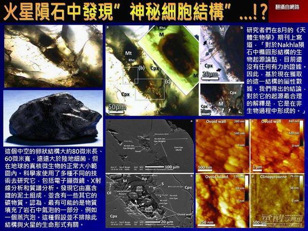 关键时刻20140916火星陨石中发现神秘细胞结构